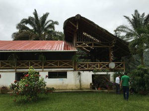 The next pictures are from the most beautiful farm we saw – owned by an engineer and his wife - the Andrades. They have a gorgeous bamboo home with this beautiful bamboo deck where we met the owner.
